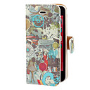 Vintage Miracle Mile Film Pattern PU Full Body Case with Card Slot and Stand for iPhone 5C