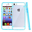 Fluorescent Effect After Lighting Transparent Back Case for iPhone 5/5S(Assorted Color)