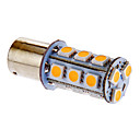 BA15S/1156 3.5W 18x5050SMD 162LM 3000-3500K Warm White Light LED-lamppu auton (DC 12V)