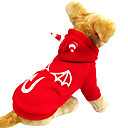 Dog Coats / Hoodies - XS / S / M / L / XL - Winter - Red Cotton