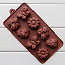 Silicone huit trous assorties Insectes de chocolat de forme Plateau (Couleur Randoms)