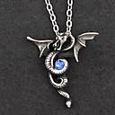 Eternal Naga Alloy Gothic Lolita Necklace dengan Blue Gemstone