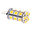 G4 5W 24 SMD 5050 370 LM Warm White T LED Corn Lights DC 12 V