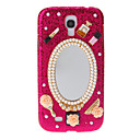 Bling Jewels with Mirror Pattern Hard Back Cover Case for Samsung Galaxy S4 I9500