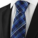 mænds tjekket mønster slips til bryllup ferie gave