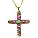 beadwork handmade jesus cross boho style pendant necklaceNL-2101a,b,c,d,e