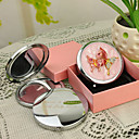 Personlig gave Butterfly Stil Pink Chrome Compact Mirror