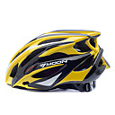 MOON 순환 옐로우 + 블랙 PC + 25 벤트 MTB 보호 헬멧 EPS