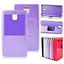 PU Leather Case Stand Cover with S View Window for Samsung Galaxy Note 3 N9000