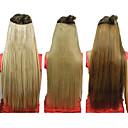 25 Inch Klip i syntetisk glat hår extensions med 5 klip (assorteret 3 farver)