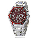 Men's Sporty Round Dial Alloy Band Quartz Analog Wrist Watch (Assorted Colors) Cool Watch Unique Watch