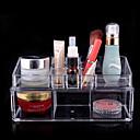 acrylique complexe boîte de rangement des cosmétiques double couche combinée organisateur cosmétique transparente