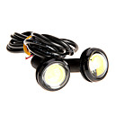 Buy Pair 3W High Power LED Ultra-thin Led Eagle Eye Tail Light Backup Rear Lamp White Color 2786