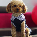 Dog Dress Black Spring/Fall Polka Dots