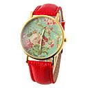 reloj patrón de flor de la moda de las mujeres