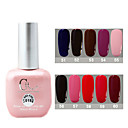 1PCS CH Soak-off Pink Bottle Solid Color UV Color Gel Polish No.51-60 (15 ml, assorteret farve)