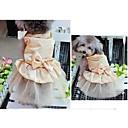 Dog Dresses-XS/S/M/L/XL-Summer-Gold/Blue/Red-Elegant/Rhinestone/Wedding