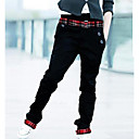 Men's Single Belt Casual Straight Long Pants(Belt not included)