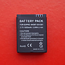 Professional Spare 1600mAh Battery For GOPRO Outdoor Sport Cameras (Black)