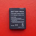 Professionel 1050mAH Batteri til GOPRO Udendørs Sportskameraer (Sort)