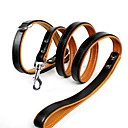 Black Genuine Leather Puppy  Collars and Leash for Pets Dogs (Assorted Sizes)