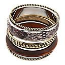 bois rétro serpent élégant bracelet multi-couche