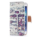 Key Vintage et fleurs de style étui en cuir avec fente pour carte et stand pour Samsung Galaxy S4 Mini i9190