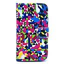 Multicolor Geometrie Muster Hülle mit Magnetverschluss und Kartensteckplatz für Motorola MOTO X