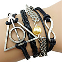 Angel Wings Harry Porter Infinity Multi-Layer  Handmade Leather Rope Bracelet