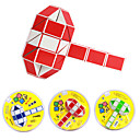 2,5 cm Plastika Magic Cube Puzzle 60 Dijelovi Hammer Shape Toy (Random boja)
