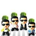 Творческие Мини Комнатные растения Psy Стиль Кукла Трава Офис Магия Трава Посадка
