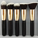 Pro cosmétique de maquillage de fard à paupières Fondation Ensemble bois Brosse Blush Outils 5 PC SV000967