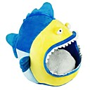 Shark Cartoon Style House Beds with Cushion for Small Pets Dogs Cats \
