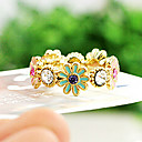 Classic Chrysanthemum Diamanted Golden Band Ring(1 Pc)