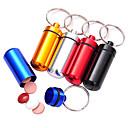 Alliage extérieure étanche Mini pilules Premiers secours Portable Box (couleur aléatoire)