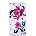 Wisteria Flower Pattern Pu Leather Full Body Case for Sony T2