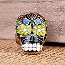 European Facial Masks Skull Women's Bronze Alloy Statement Rings(1 Pc)