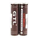 過充電保護+ 2個/ロットのハードプラスチック製のバッテリー収納ボックスとGTLのICR 3000mAhの18650電池(2本)