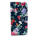 Flower Pattern Full Body PU Leather Case with Card Slot Stand for LG Google Nexus 5