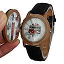 Unisex Bus Patroonstempel Style Cover lederen band quartz horloge (verschillende kleuren)