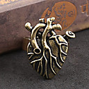 Men's Vintage Exposed Heart Band Rings