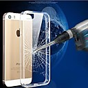 Scratch-resistant Crystal TPU Frame Transparent PC Cover Case for iPhone 5/5S