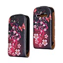 Red Flower and Butterfly Pattern PU Leather Full Body Case for Samsung Galaxy Fame S6810