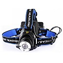 Head Front White Sports Flashlight  XPE LED Headlamp(4000lm, 2x18650,black)
