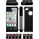 dos en un grano de fútbol pc diseño y funda de silicona para el iphone 4 / 4s (colores surtidos)