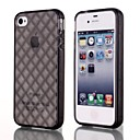 Natusun ™ Solid Color Diamond Pattern TPU Soft Case for iPhone 4/4S (Assorted Colors)