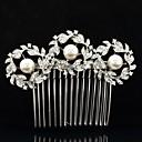 Buy 8.5cm Alloy Rhinestone Imitation Pearl Women's Party Wedding Bridal Hair Comb
