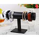 klassiskt vacker t form armband stand svarta trä läder smycken displayer (1 st)