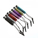 7 Pcs Mini Aluminum Capacitive Touch Screen Stylus Pen 3.5 mm Headphone Anti-Dust Plug for Samsung Galaxy S4 I9500