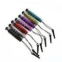 7 stuks mini aluminium capacitieve touchscreen stylus pen 3,5 mm koptelefoon anti-stof plug voor samsung galaxy s4 i9500